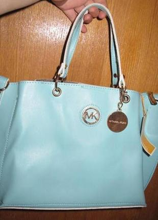 Елегантна голуба сумка нова бірки еко шкіра