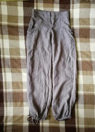 Льняные штаны h&m в невероятно красивом оттенке тауп