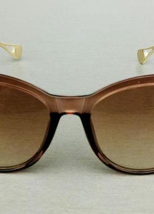 Chanel очки женские солнцезащитные коричневые с градиентом