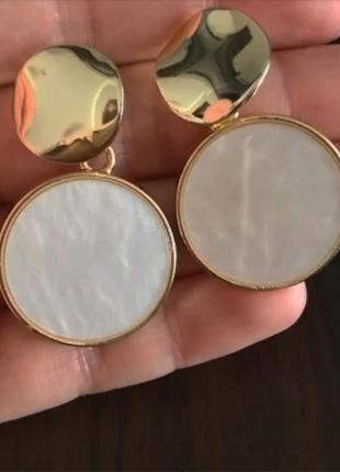 Серьги золото тренд сережки