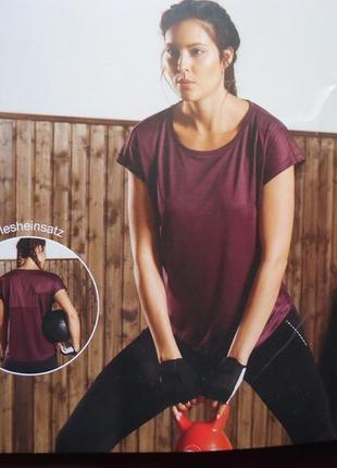 Женская футболка для спорта crivit германия, р. m (46/48) наш