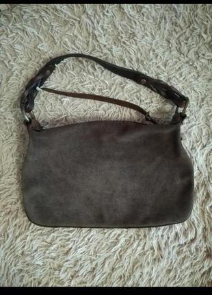 Винтажная сумочка кожа замш