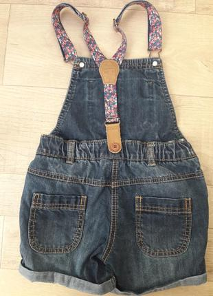 Джинсовые шорты - комбинезон next2 фото