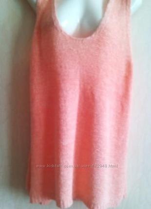 Вязаный топ пудровый нежно-розовый papaya-18р #178