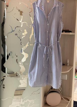 Невесомое хлопковое платье рубашка h&m