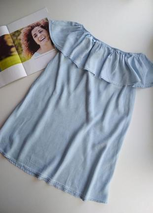 Трендова сукня з рюшою s,m