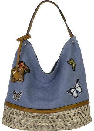 Сумка текстиль бабочки или полоски