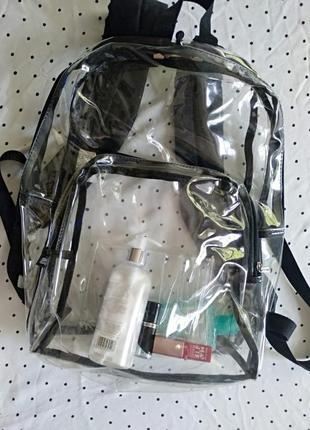Женский мега - стильный, прозрачный рюкзак.