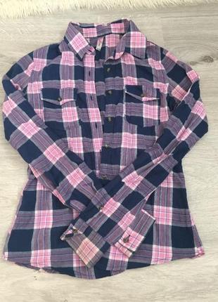 Школьная блузка ,клетка,gloria jeans
