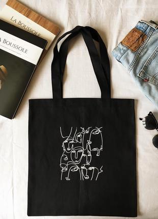 Эко сумка хлопковая сумка шоппер eco bag