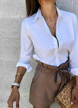 Идеальная белая базовая рубашка с длинным рукавом