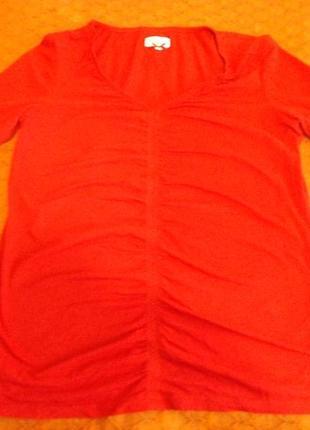 Пурпурная футболка с длинным рукавом 92% хлопок tom tailor