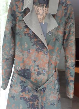 Пальто плащ милитари хаки maison scotch