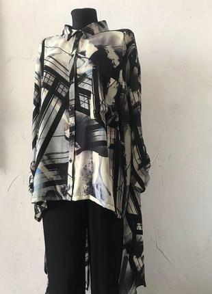 Блуза асимметричная с разрезами! рубашка, блузка, сорочка