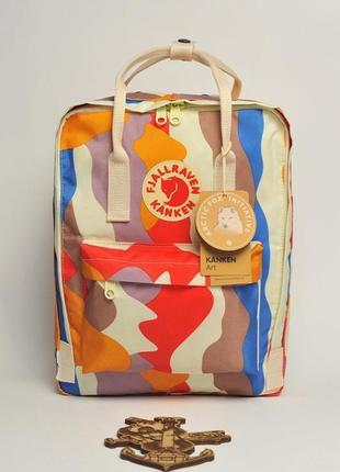 Рюкзак канкен fjallraven kanken art spring landscape сумка портфель classic класик 16л