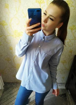 Красивенная рубашка в полоску с карманами