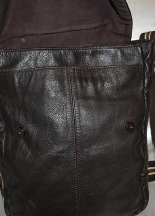 Мужская кожаная сумка rocha.john rocha5 фото