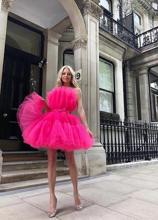 Giambattista valli x h&m яркое фатиновое платье 2019!!!!