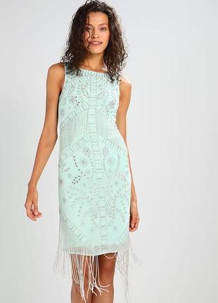 Frock and frill коктейльное платье с бисером и пайетками