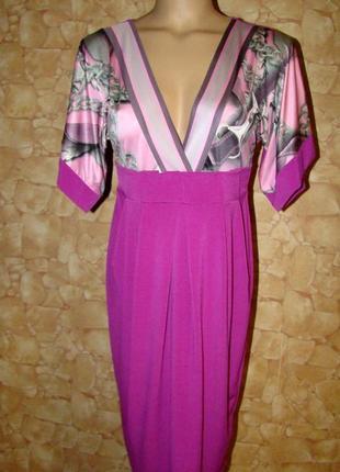 Платье с глубоким вырезом и завышенной талией sogo р.р.s,m/l