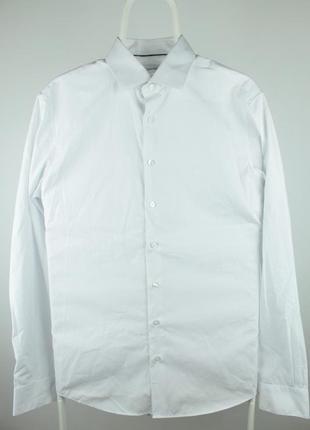Классическая белоснежная рубашка от крутого бренда calvin klein