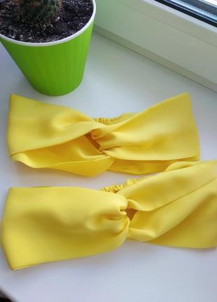 Лимонная повязка чалма, повязка на голову аксессуары для волос скидки