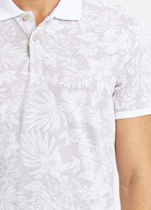 Мужское поло серое lc waikiki / лс вайкики с белым воротником и белой резинкой на манжете5 фото