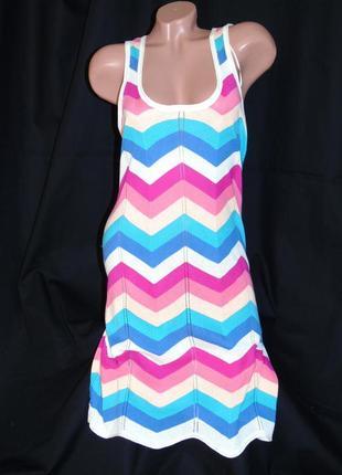 H&m шикарное яркое платье - s - m - l