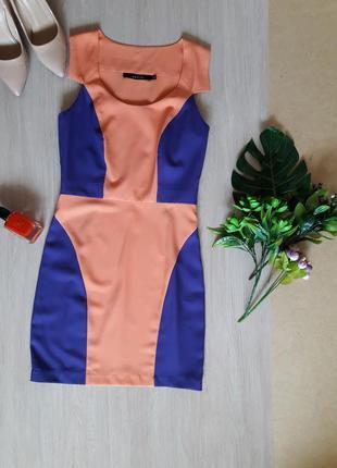 Платье с контрасными вставками
