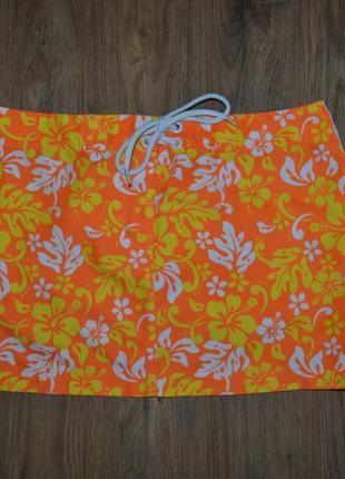S/36/8 яркая пляжная юбка с тропическим принтом. censored