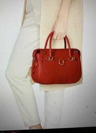 Кожаная сумка ralph lauren оригинал из сша3 фото