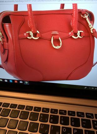 Кожаная сумка ralph lauren оригинал из сша7 фото