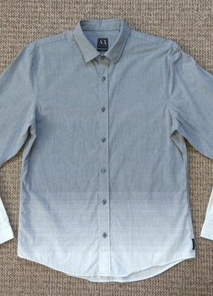 Armani exchange рубашка slim fit оригинал (l) сост.идеал