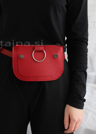 10 расцветок поясная сумка красная сумочка на пояс клатч с кольцом