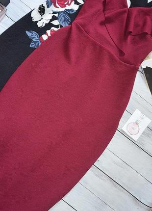 Стильное платье миди с рюшей3 фото