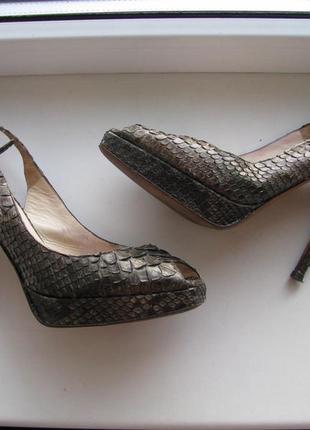 Кожаные туфли jimmy choo змея