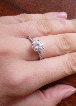 Кольцо (серебро, вставка цирконий)