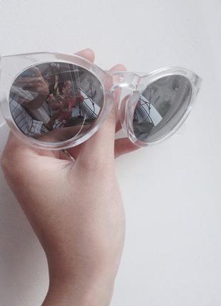 Новые модные очки зеркальные прозрачные