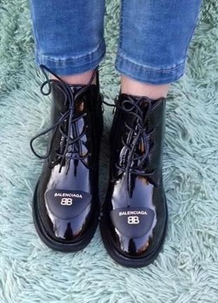 Ботиночки лаковые 39 размер
