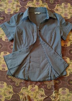Рубашка в клетку marks & spencer