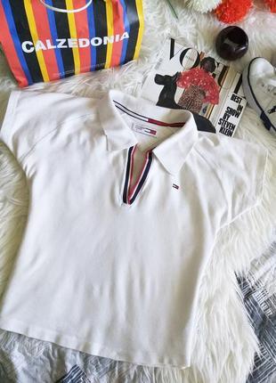 Женская укороченная футболка поло tommy hilfiger s/36