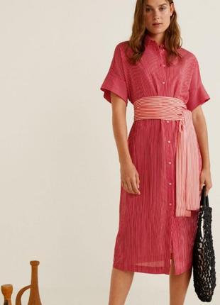 Красивое платье рубашка mango