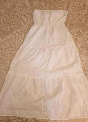 Летнее белое платье прошва большой размер от old navy размер l us 52-54