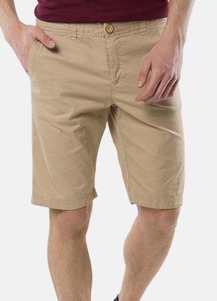 Бежевые классические мужские шорты