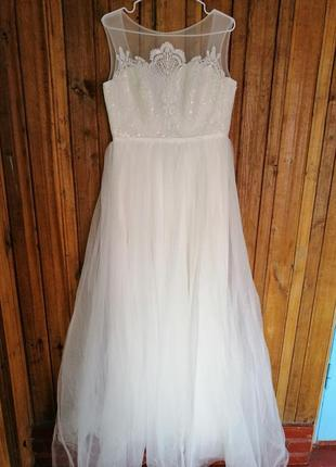 Свадебное нежное платье