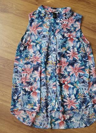 Удлиненная блуза без рукавов, h&m