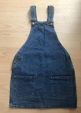 Класний якісний джинсовий сарафан розмір 6-xs