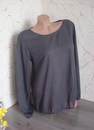 Блузка , рубашка opus из тончайшего хлопка , под резинку