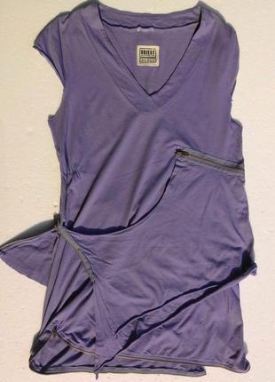 Object collection. хлопковое платье с молниями. дания. размер l.