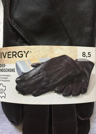 Перчатки кожа коричневые мужские